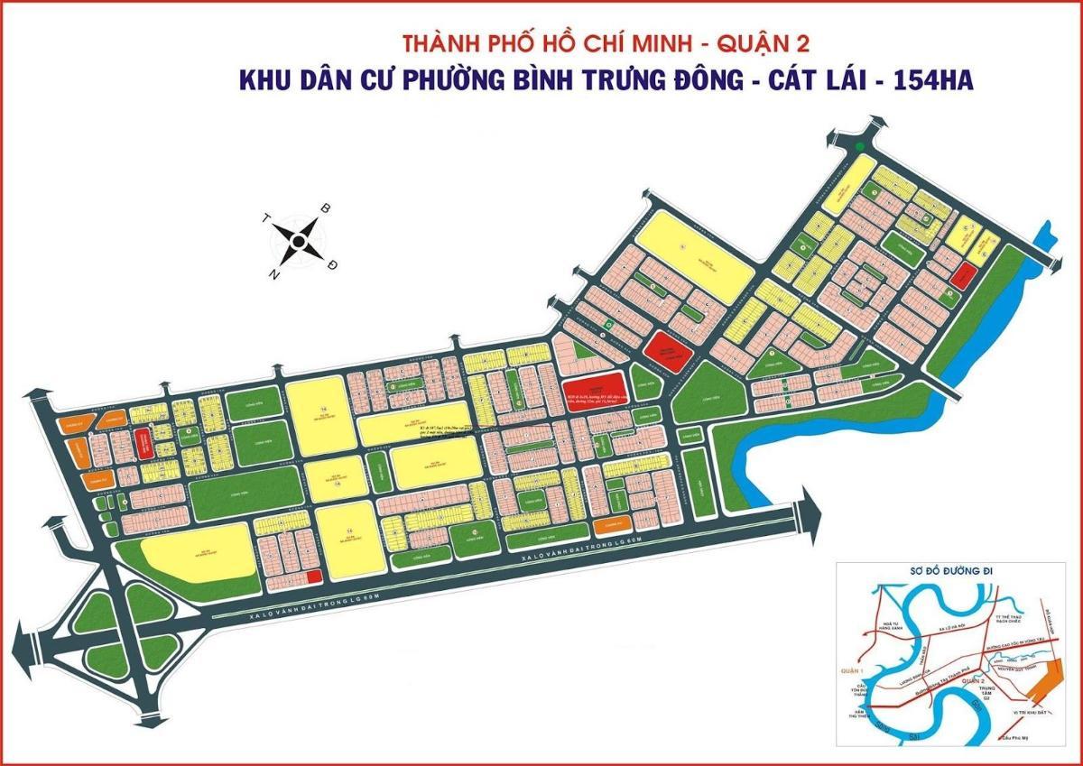 Bản đồ quy hoạch Bình Trưng Đông