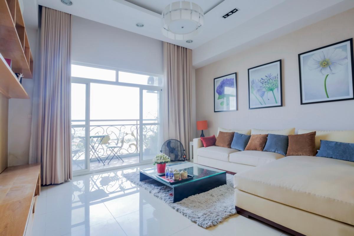 Phòng khách hiện đại Căn hộ tầng cao Flemington