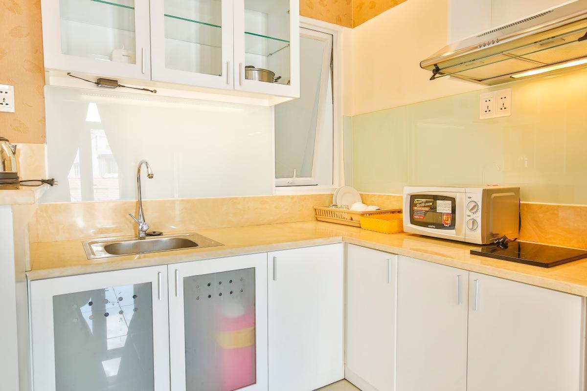 Bếp Căn hộ dịch vụ 55m2 Spring Apartment