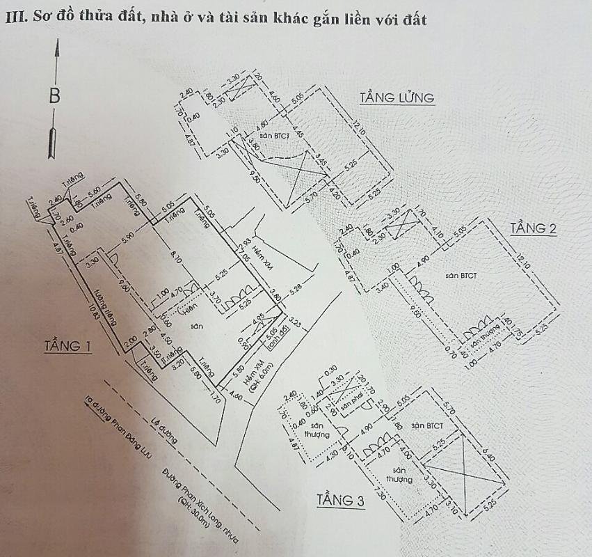 Bản vẽ căn nhà Nhà 3,5 tầng hẻm Phan Xích Long Phú Nhuận
