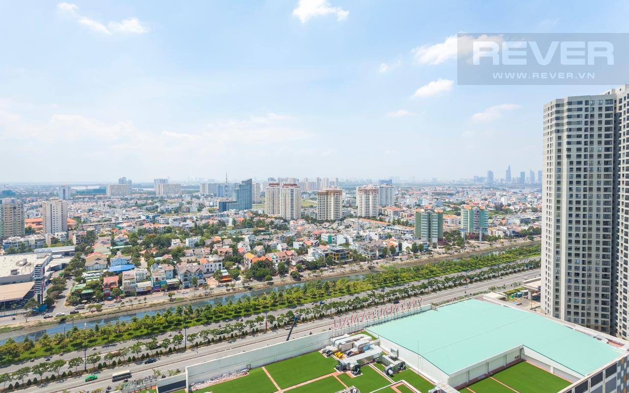 Cảnh quan nhìn từ  căn hộ Căn góc hướng Đông Nam tầng cao T3B Masteri Thảo Điền