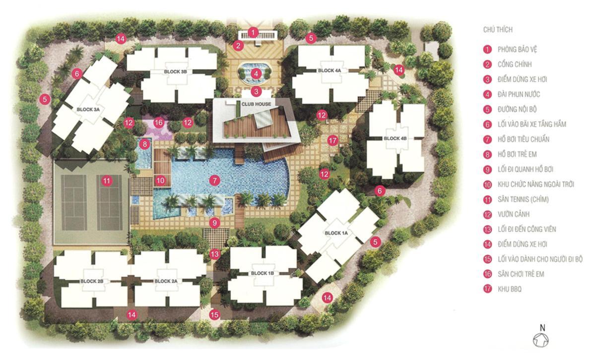 Mặt bằng tổng thể dự án căn hộ The Estella Quận 2