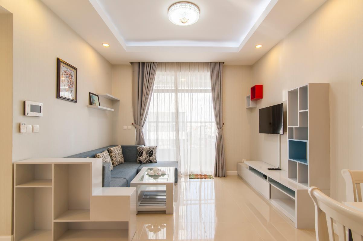 Phòng khách hiện đại Căn hộ P2 Prince Residence 2PN đầy đủ nội thất