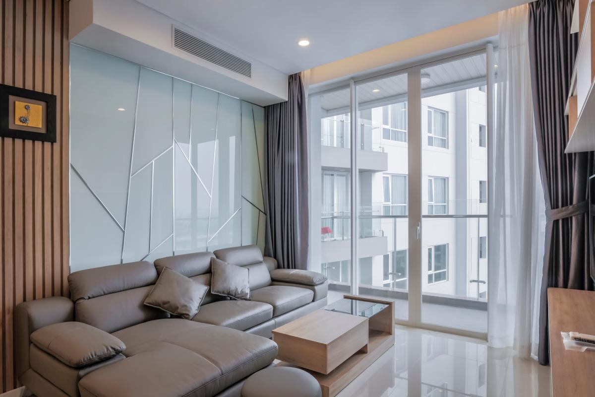 Phòng khách Căn hộ trung tầng A2 Sarimi Sala Đại Quang Minh