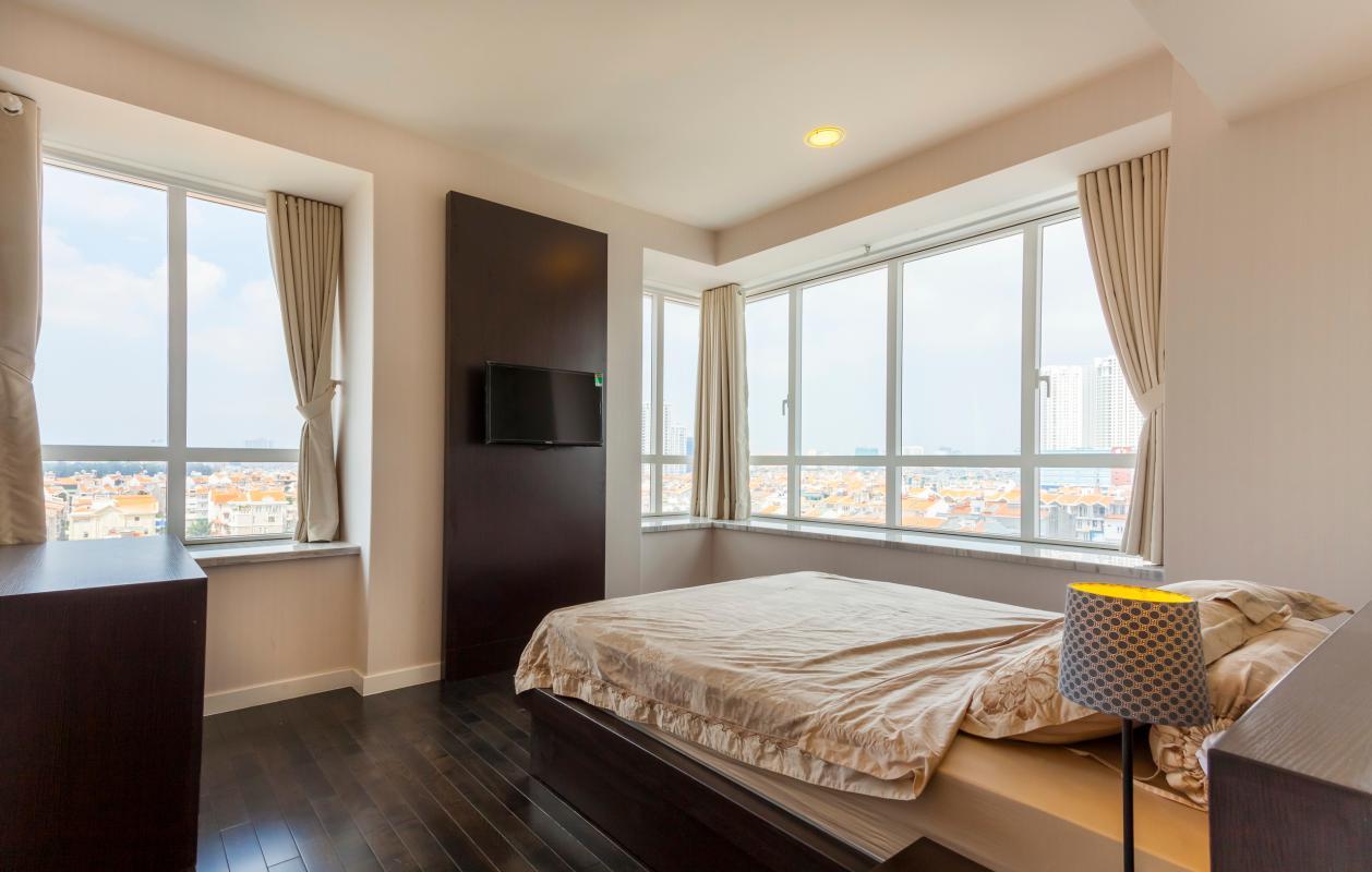 Phòng ngủ ở vị trí góc Căn góc trung tầng V1 Sunrise City