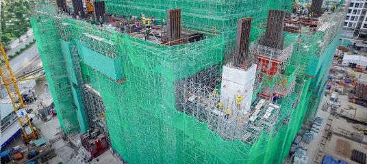 Toàn cảnh công trường xây dựng tòa tháp Landmark 81