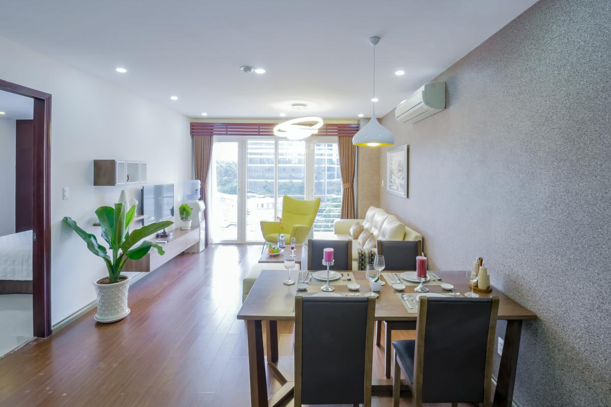 Phòng khách Căn hộ hướng Đông Bắc Võ Văn Tần