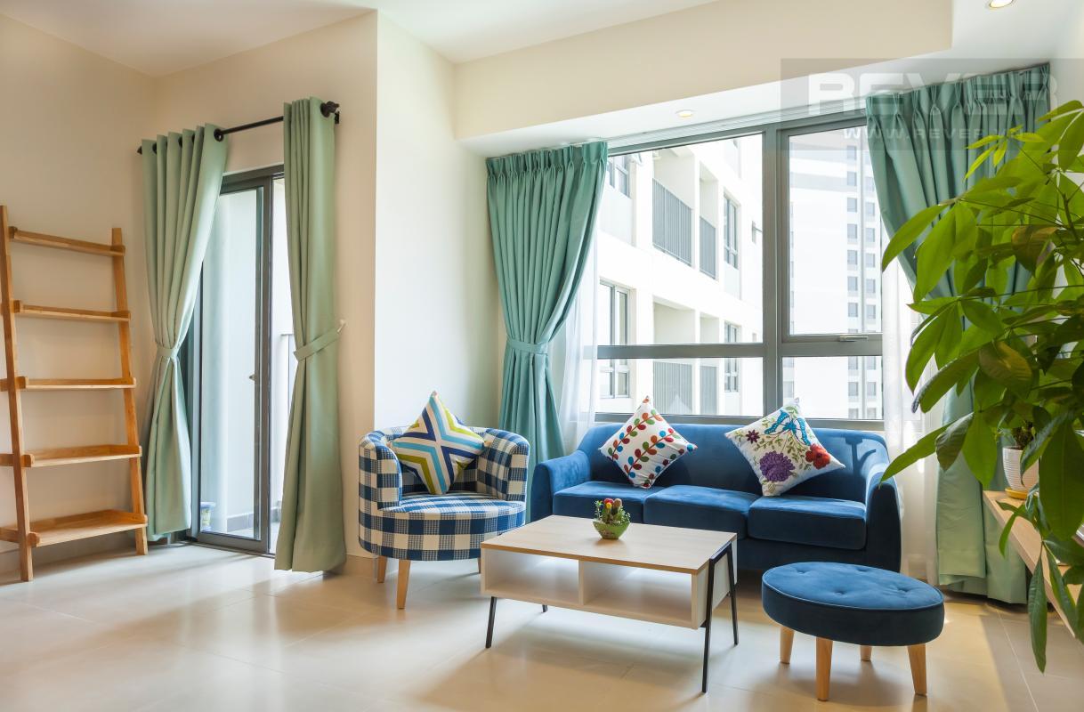 Nội thất phòng khách vừa gọn gàng, vừa sang trọng và hiện đại Căn góc hướng Đông Nam tầng cao T3B Masteri Thảo Điền