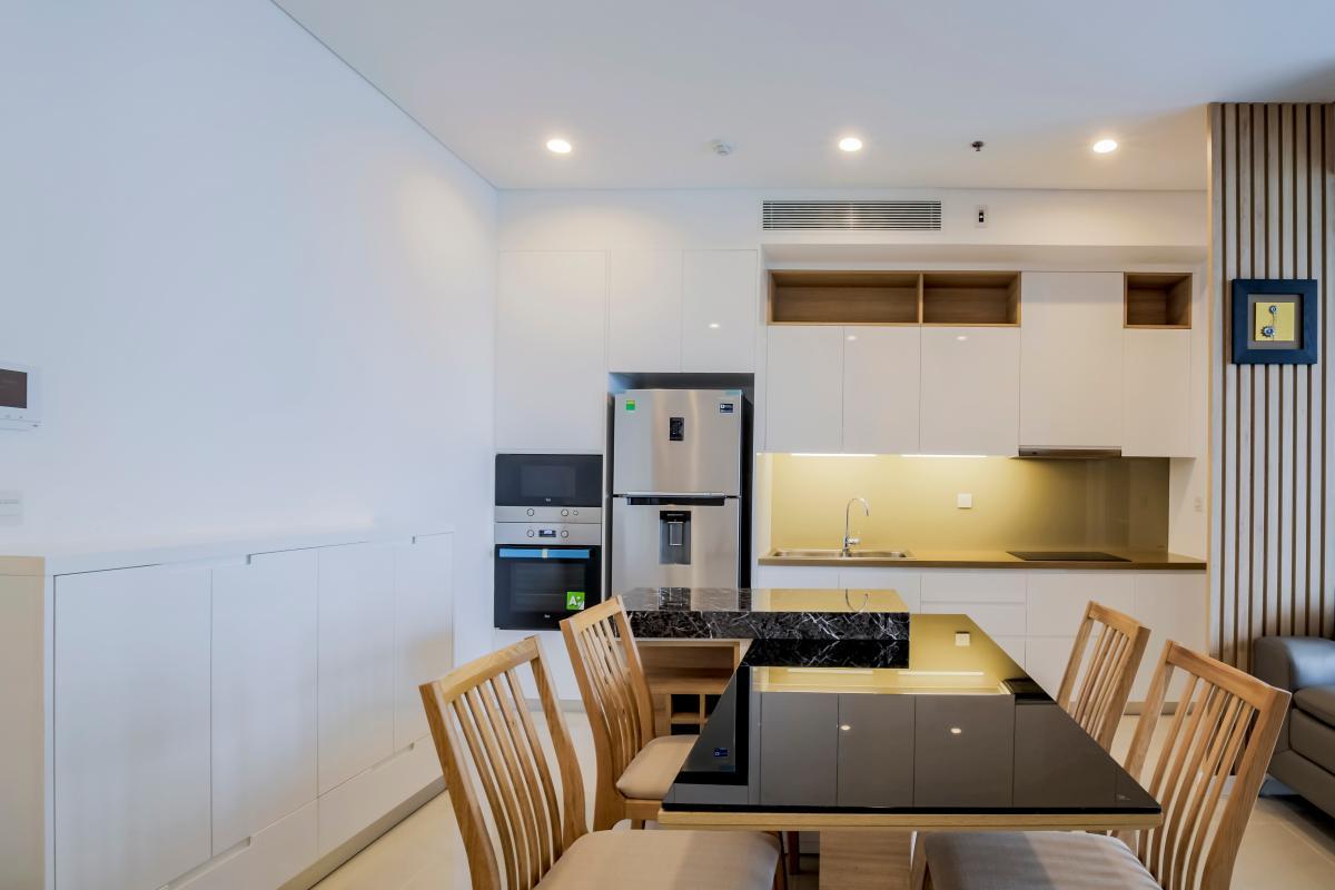 Nội thất phòng bếp Căn hộ trung tầng A2 Sarimi Sala Đại Quang Minh