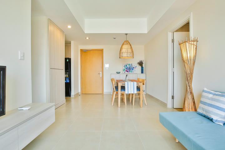 Căn hộ Masteri Thảo Điền tầng cao T3A đủ nội thất, 2 phòng ngủ