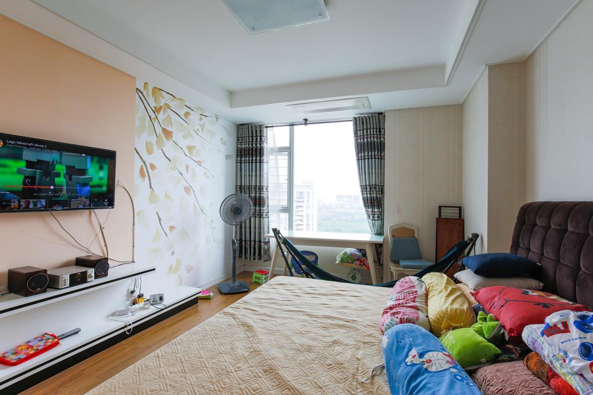 Phòng ngủ chính tao nhã Căn hộ tầng cao tháp D2 Cantavil An Phú