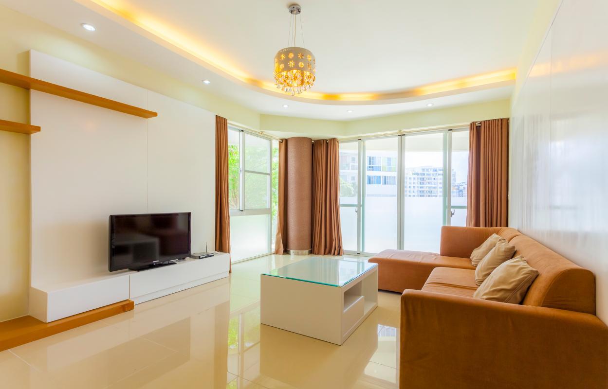 Phòng khách sang trọng Căn hộ tầng thấp Riverpark Residence