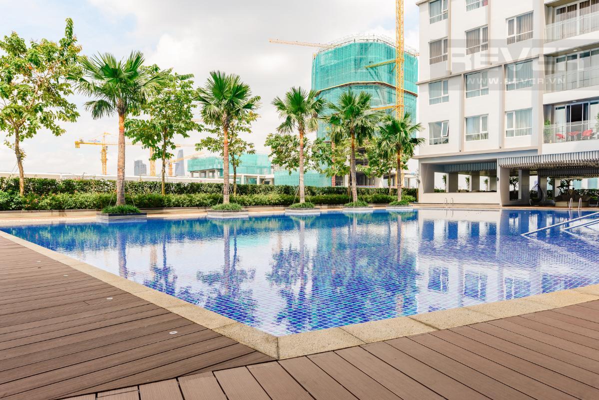 Hồ bơi rộng lớn Căn hộ A1 Sarimi hai phòng ngủ, nhìn về trung tâm thành phố