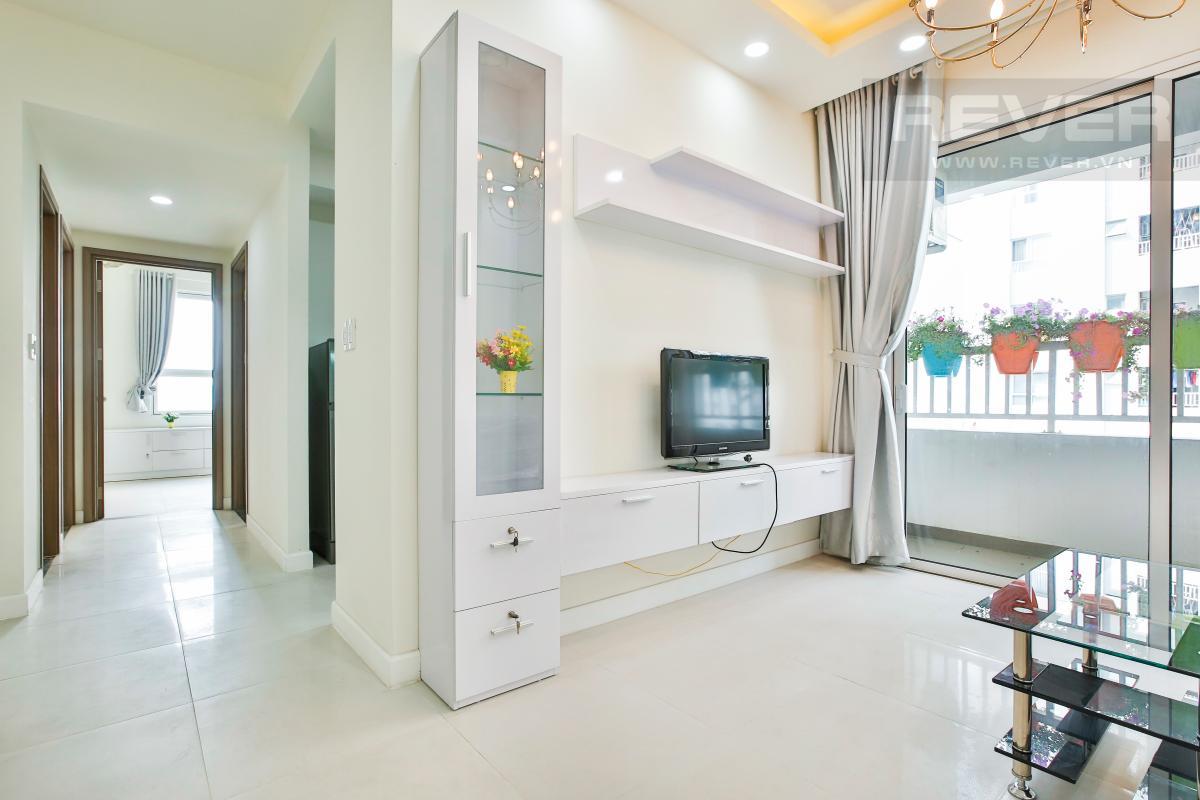 Tủ kệ TV phòng khách thiết kế hiện đại Căn hộ hướng Bắc tầng cao LB Lexington Residence