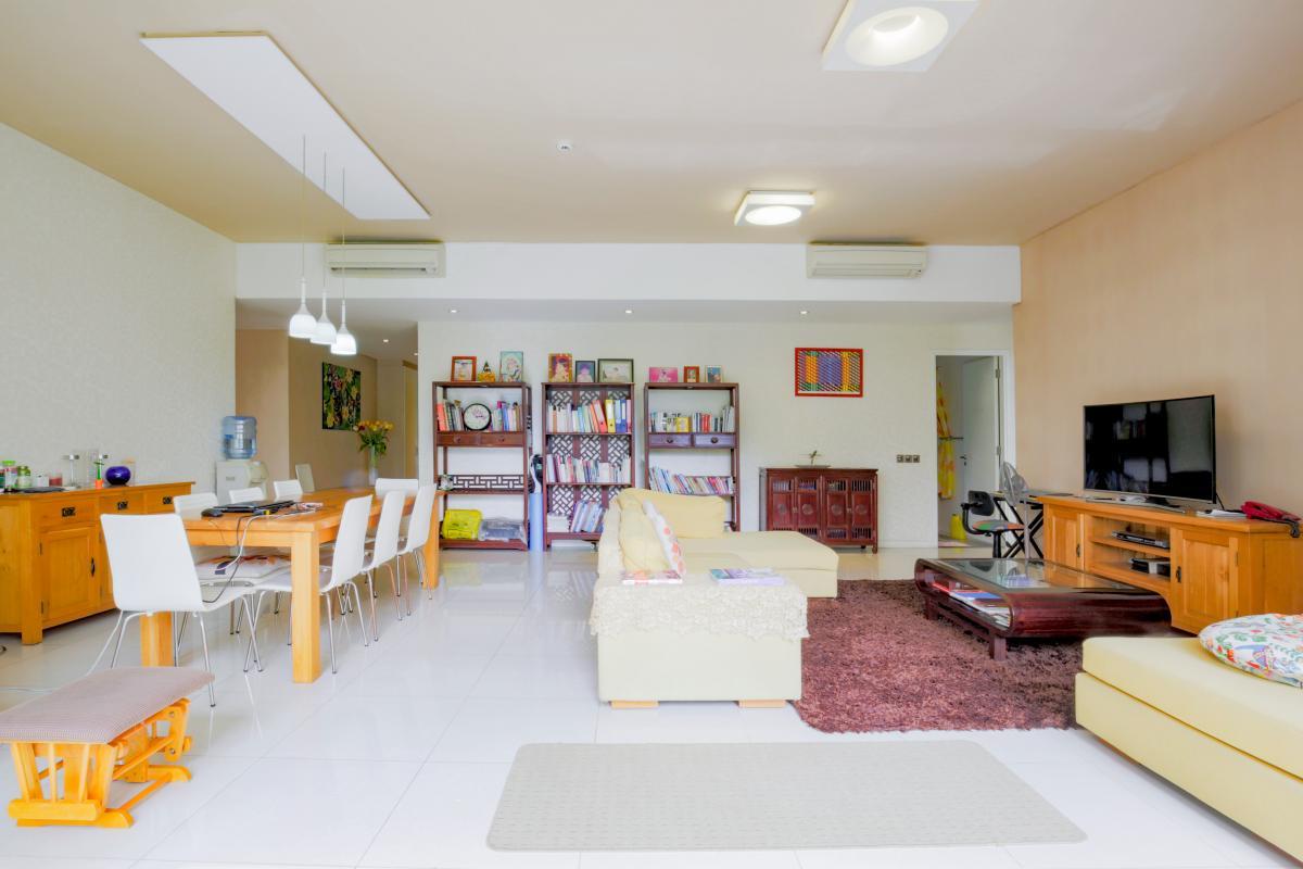 Phòng khách Căn hộ 3 phòng ngủ tháp 4B The Estella An Phú