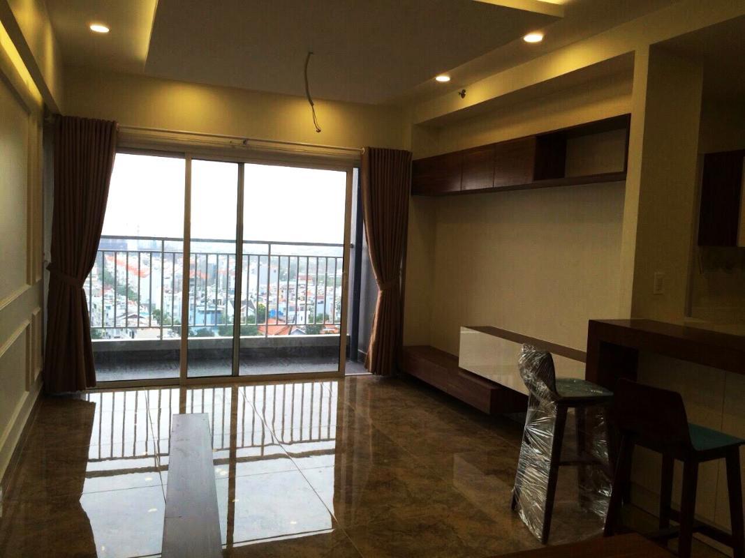 Phòng khách view ngoại cảnh Căn góc tầng cao X2 Sunrise City