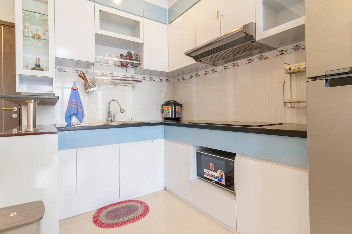 Nội thất Phòng bếp Căn hộ P2 Prince Residence 2PN đầy đủ nội thất