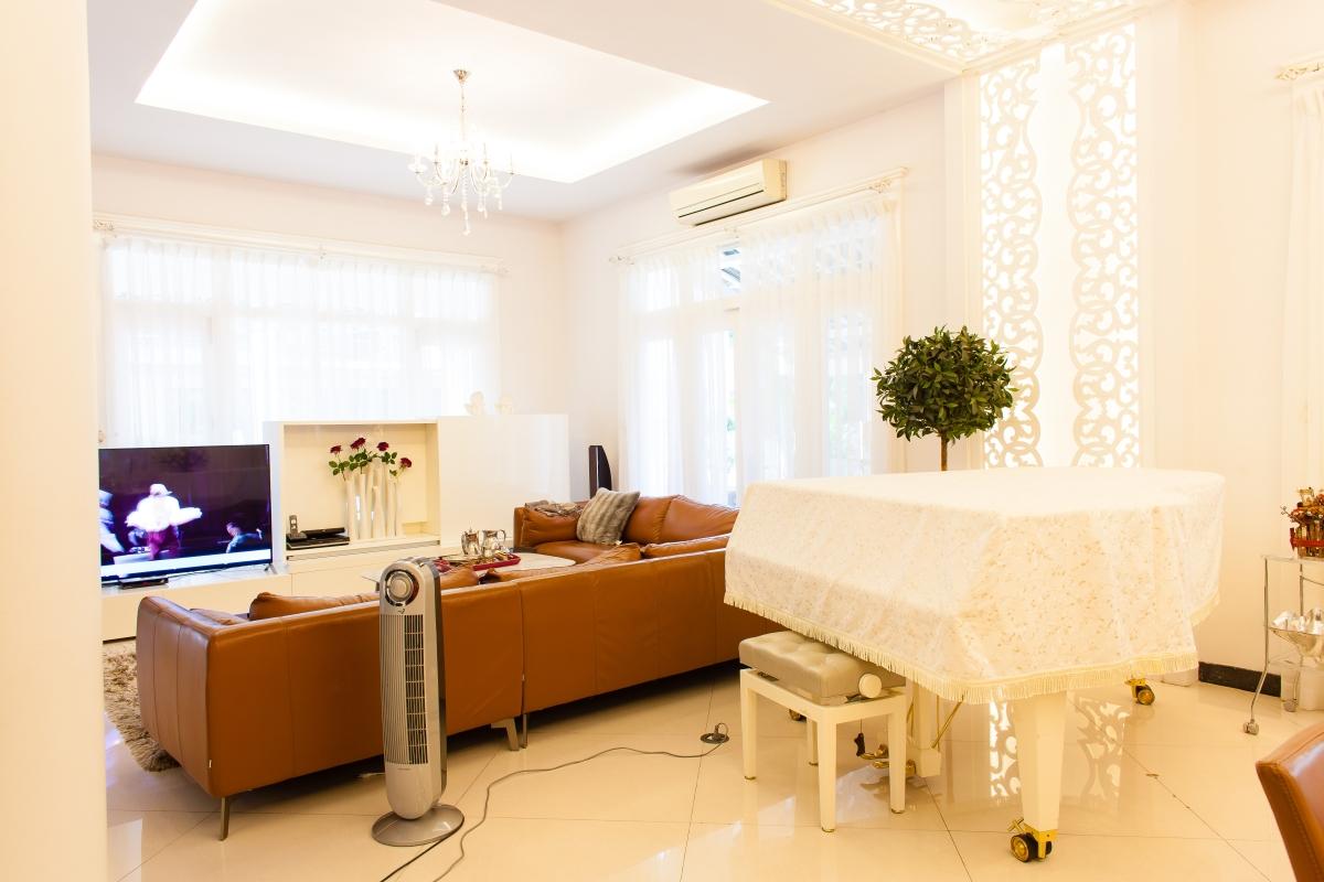 Khu vực thư giản Villa 2 tầng đơn lập Mỹ Phú 1A