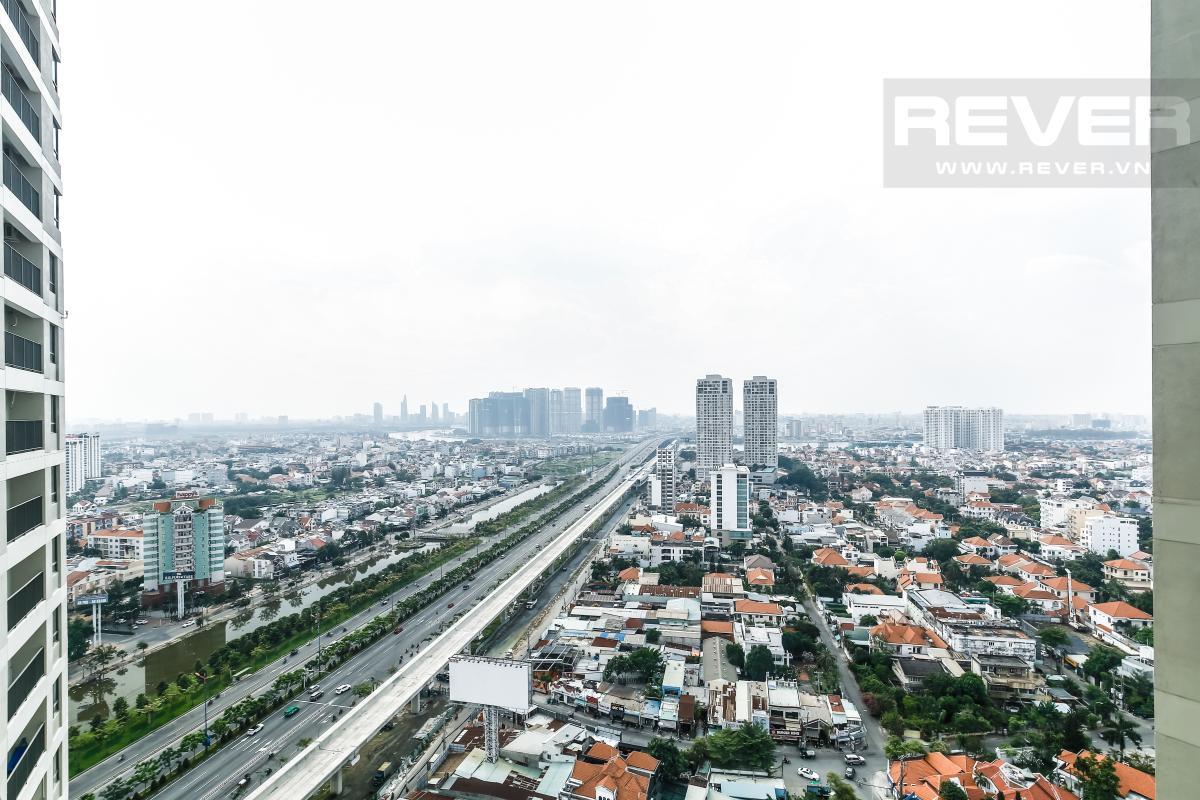 View từ phòng ngủ Căn góc tầng cao T1A Masteri Thảo Điền