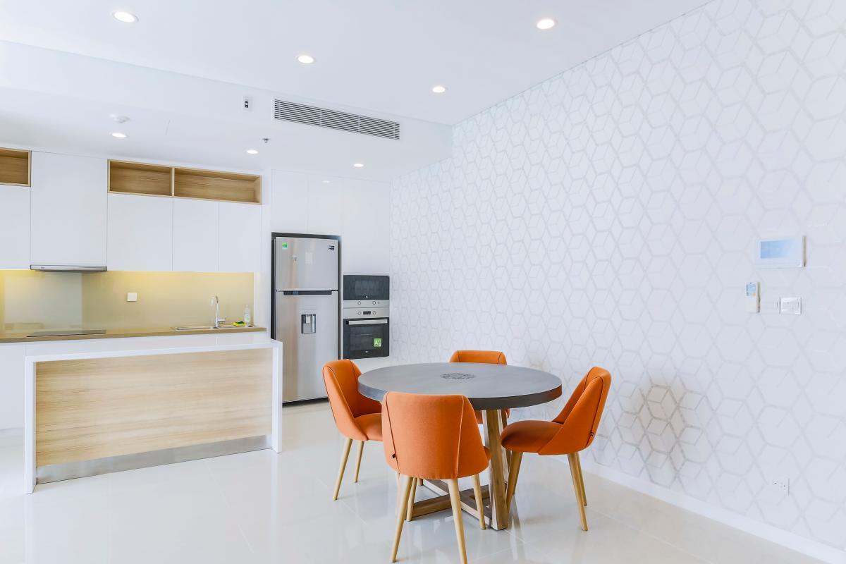 Khu vực bàn ăn Bán căn hộ Sarimi Sala Đại Quang Minh 87m2, 2PN 2WC, nội thất tiện nghi