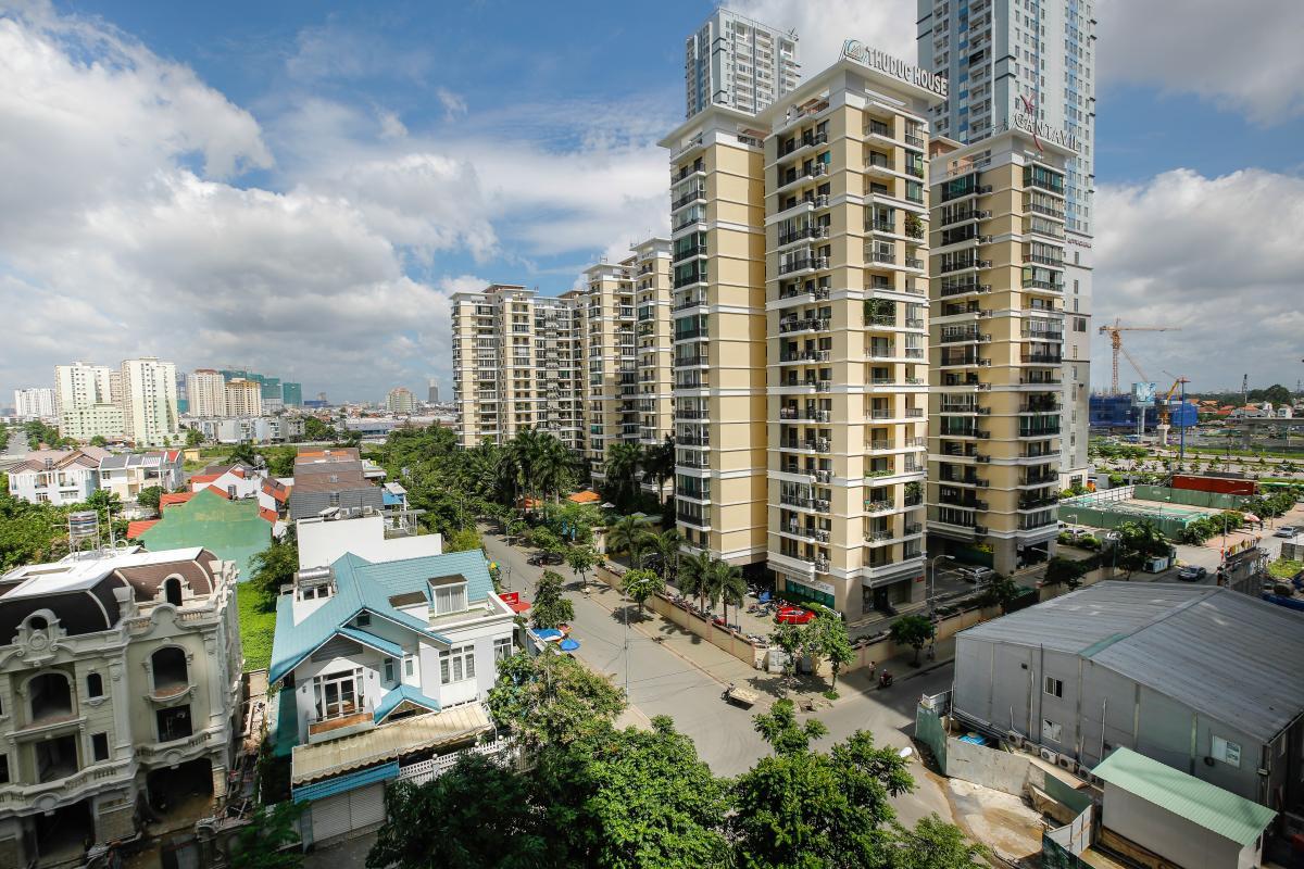 View toàn cảnh nhìn từ căn hộ Căn hộ tháp 3A The Estella An Phú