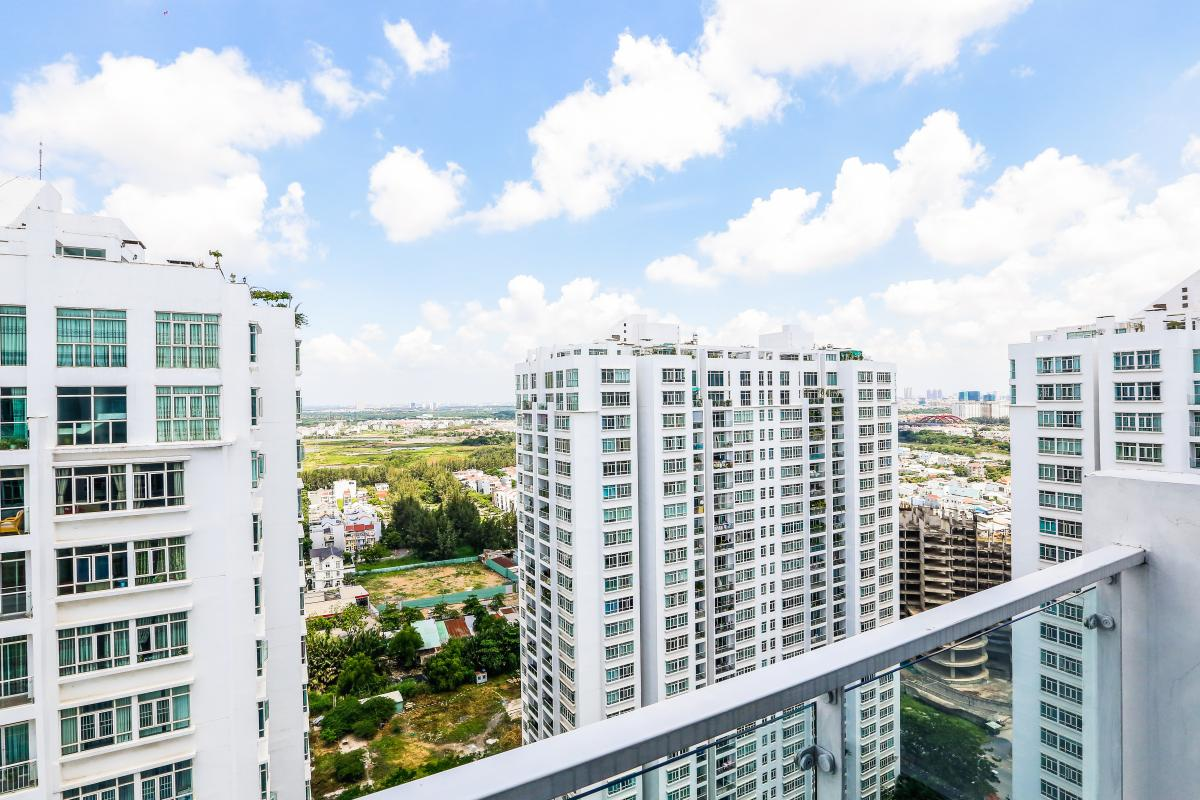 View toàn cảnh Penthouse 3 tầng D1 The New Saigon