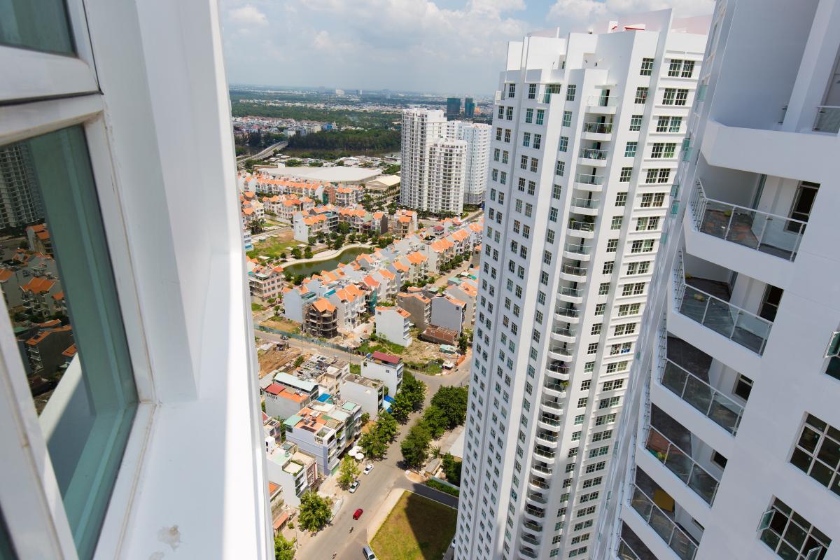 View từ căn hộ Căn hộ tầng cao A Hoàng Anh Thanh Bình