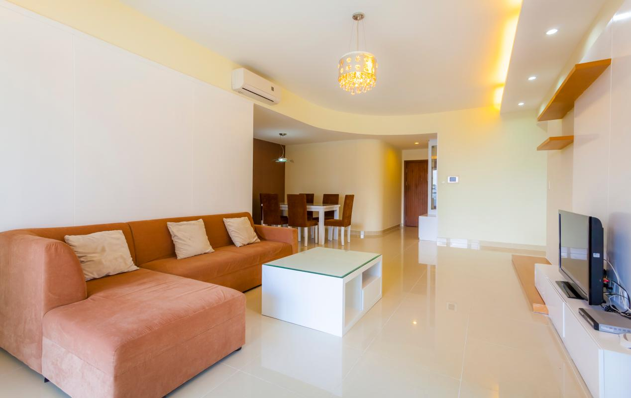 Sofa Phòng khách Căn hộ tầng thấp Riverpark Residence