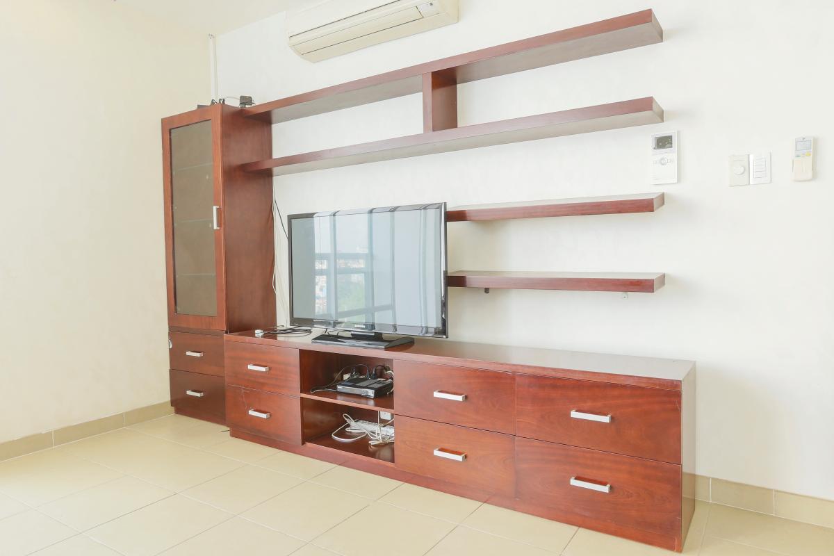 Nội thất phòng khách Căn góc tầng cao Horizon Trần Quang Khải