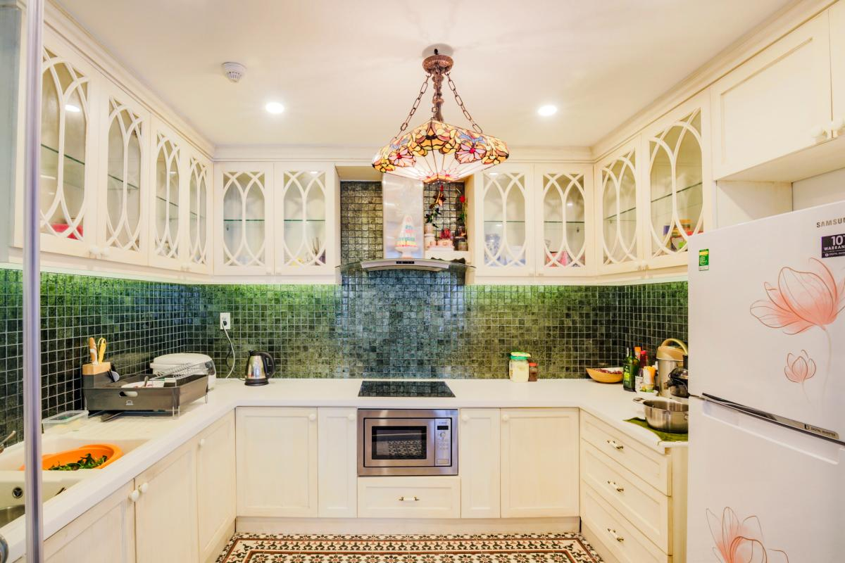 Phòng bếp Căn góc hướng Tây Nam tháp D Riverside Residence