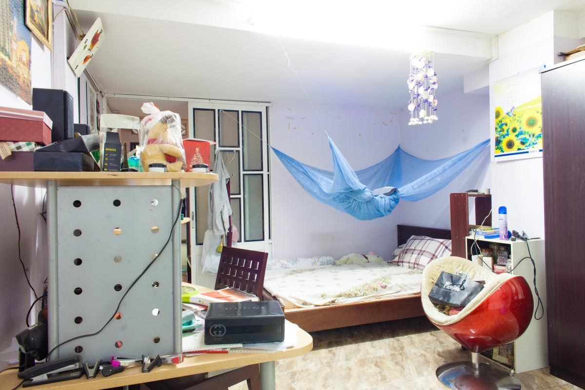 Phòng ngủ thứ hai Căn hộ 2 mặt tiền lô D chung cư Hùng Vương