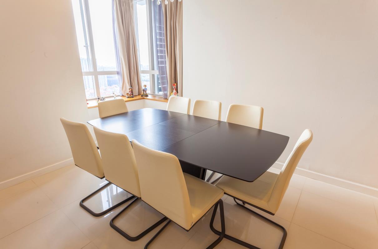 Phòng ăn giản dị Căn góc tầng cao V6 Sunrise City