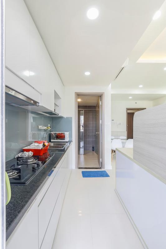 Phòng bếp được bài trí khá gọn gàng Căn hộ tầng cao LB Lexington Residence