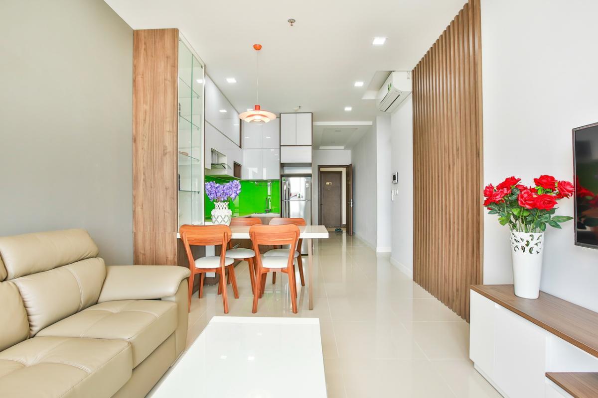 Phòng khách Căn hộ tầng cao P1 Prince Residence