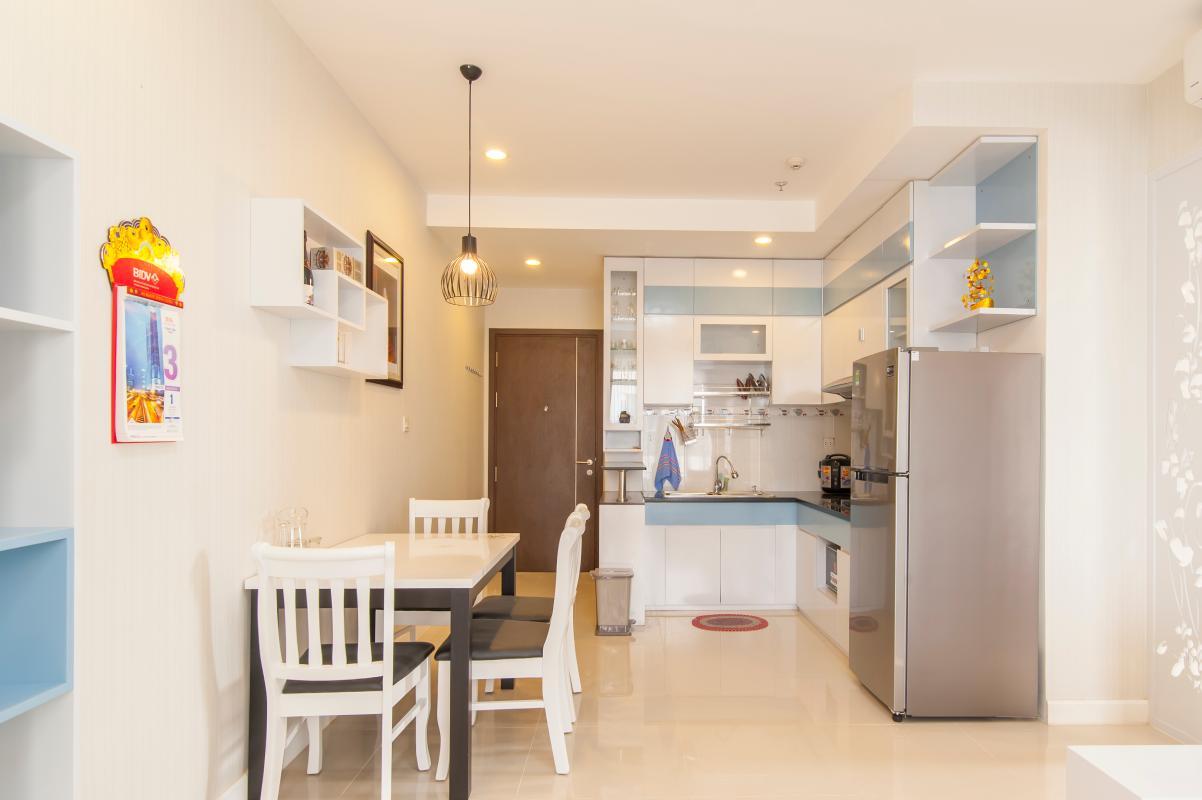 Phòng bếp tiện nghi Căn hộ P2 Prince Residence 2PN đầy đủ nội thất