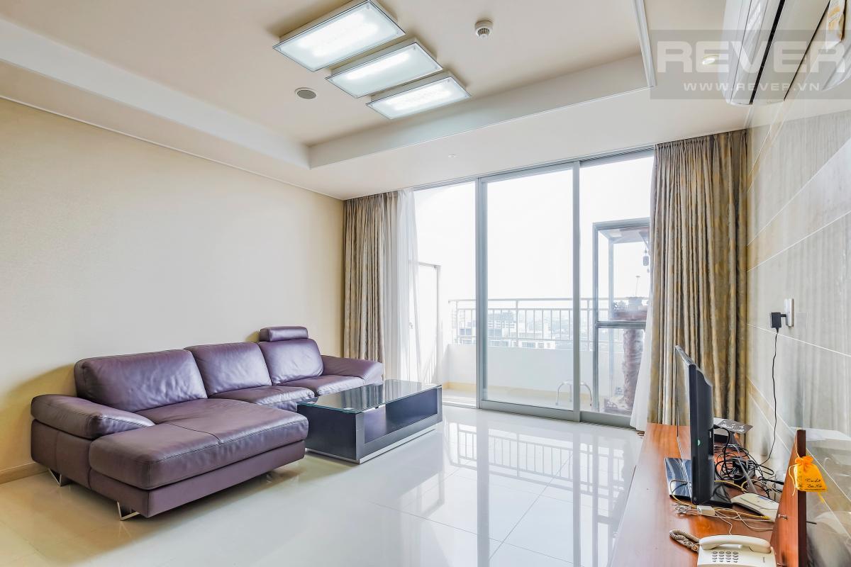 Sofa hiện đại Căn hộ hướng Nam tầng cao D2 Cantavil An Phú