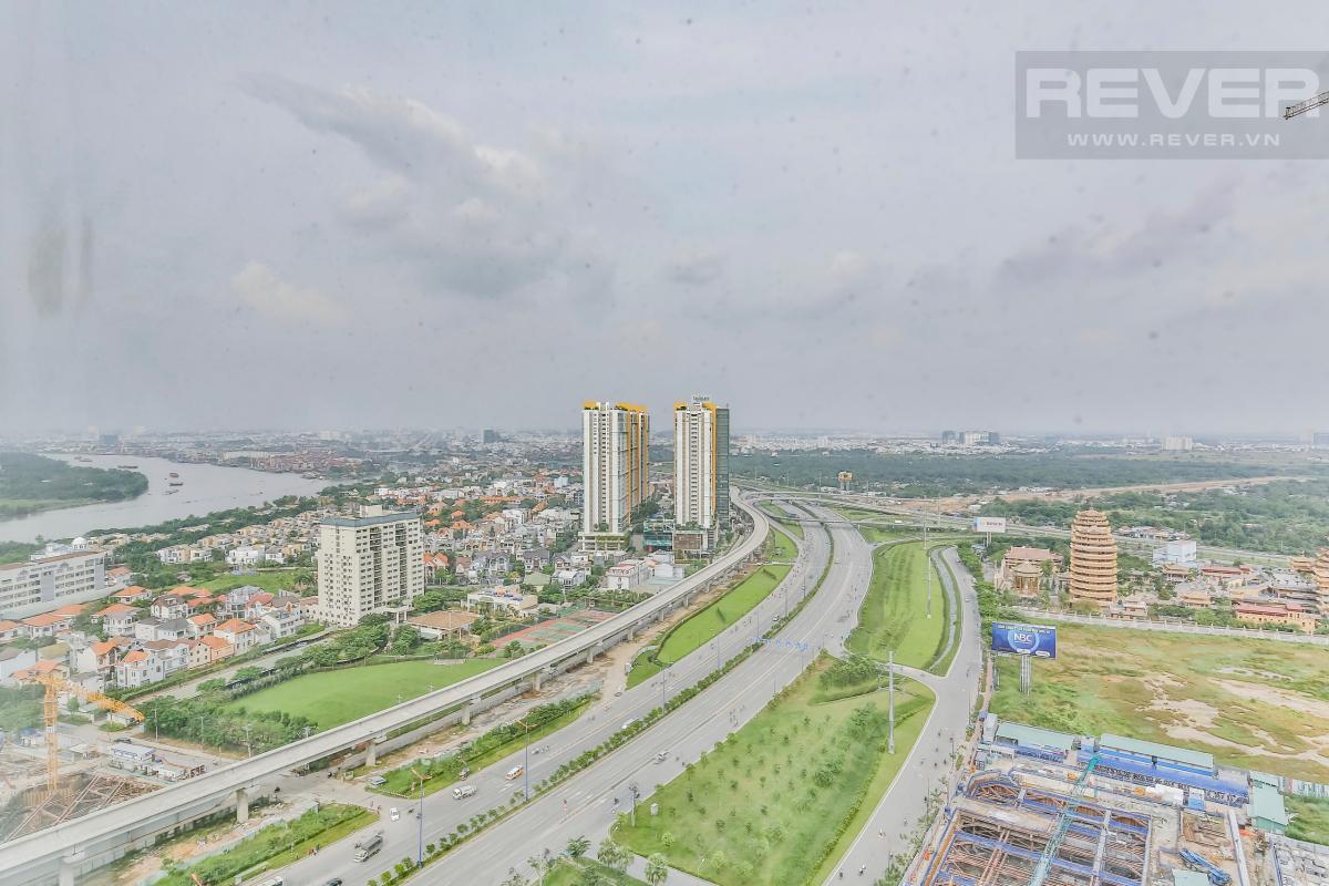 View toàn cảnh Căn hộ hướng Nam tầng cao D2 Cantavil An Phú