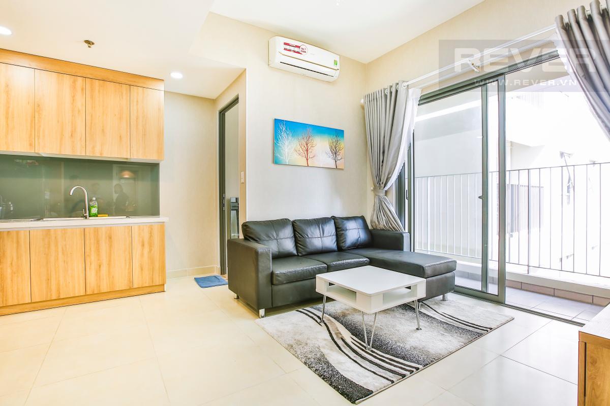 Không gian phòng khách Căn hộ hướng Đông Bắc trung tầng T1A Masteri Thảo Điền