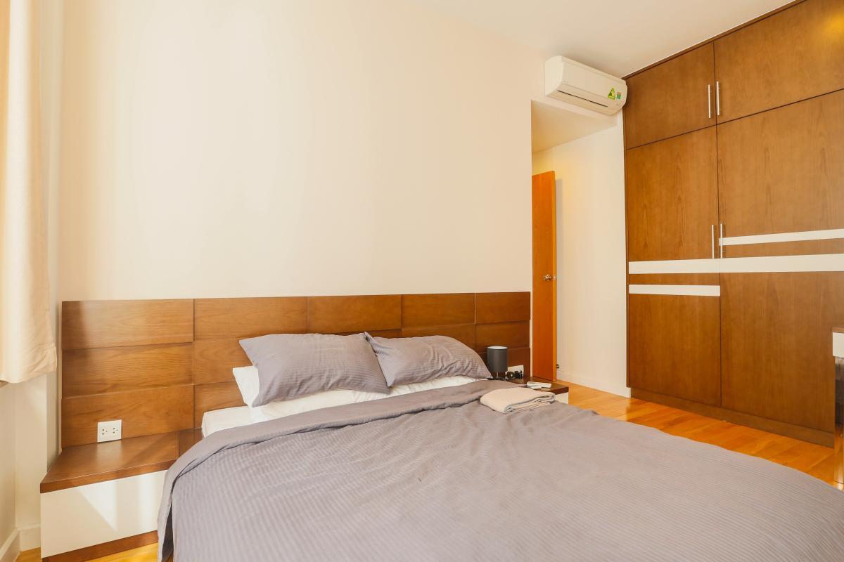 Phòng ngủ chính Căn góc Sunrise City tầng cao tháp V4 hướng Tây Nam, 3 phòng ngủ