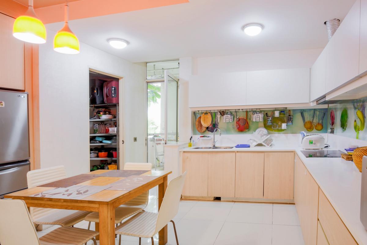 Phòng bếp Căn hộ 3 phòng ngủ tháp 4B The Estella An Phú