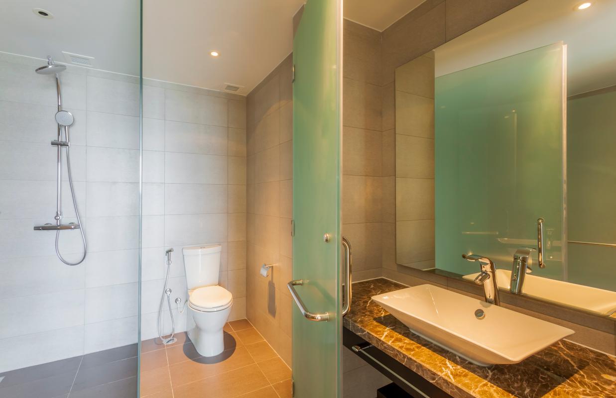 Phòng tắm Căn góc tầng cao Tower 3 Brilliant Đảo Kim Cương