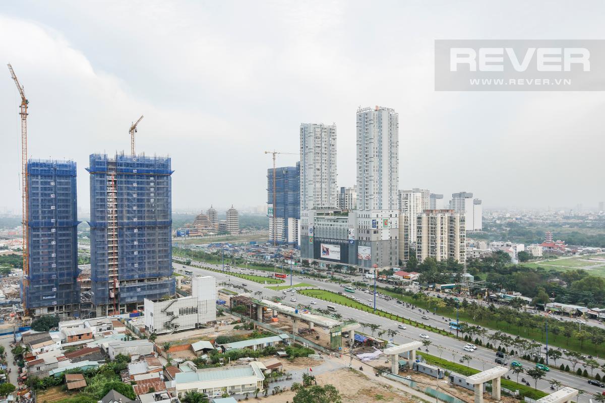View ngoại khu rộng mở nhìn từ ban công Căn góc tầng cao T4A Masteri Thảo Điền