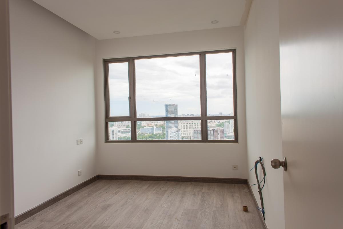 Phòng ngủ view thành phố Căn góc tầng cao T5 Riviera Point