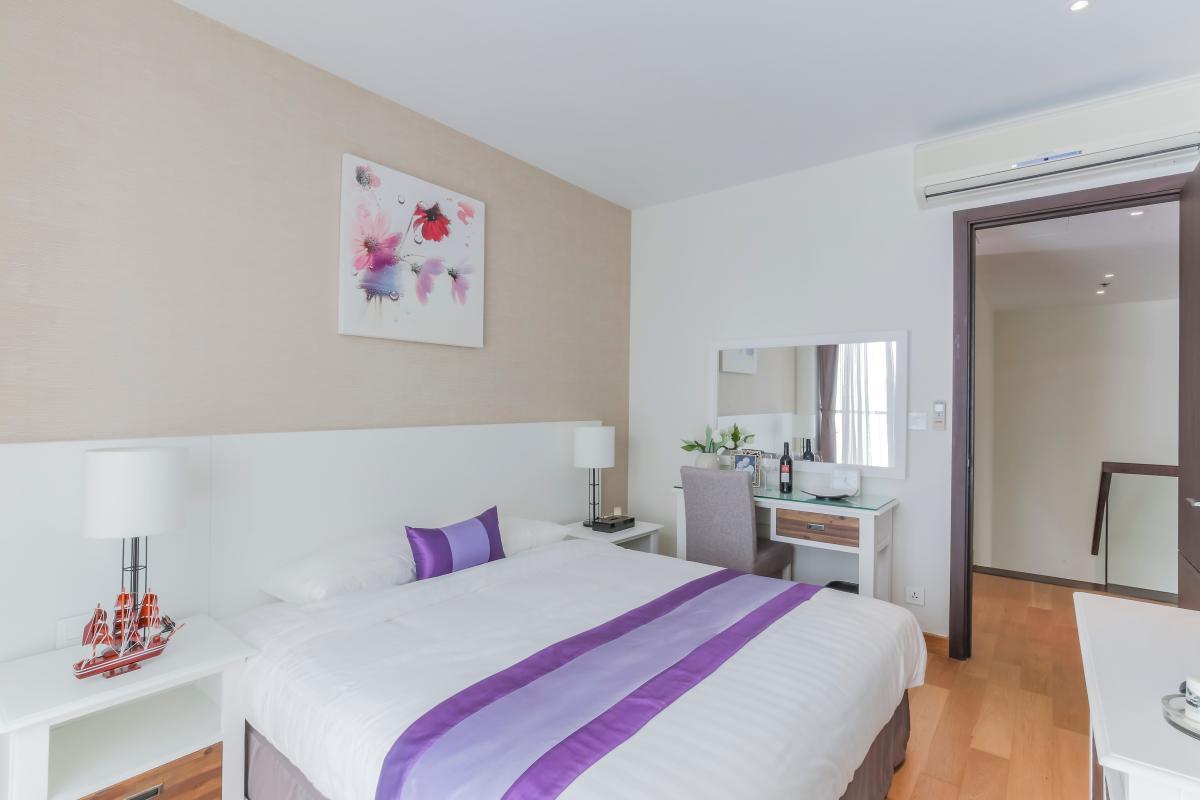 Phòng ngủ lớn Căn duplex trung tầng Tower 3 Brilliant Đảo Kim Cương
