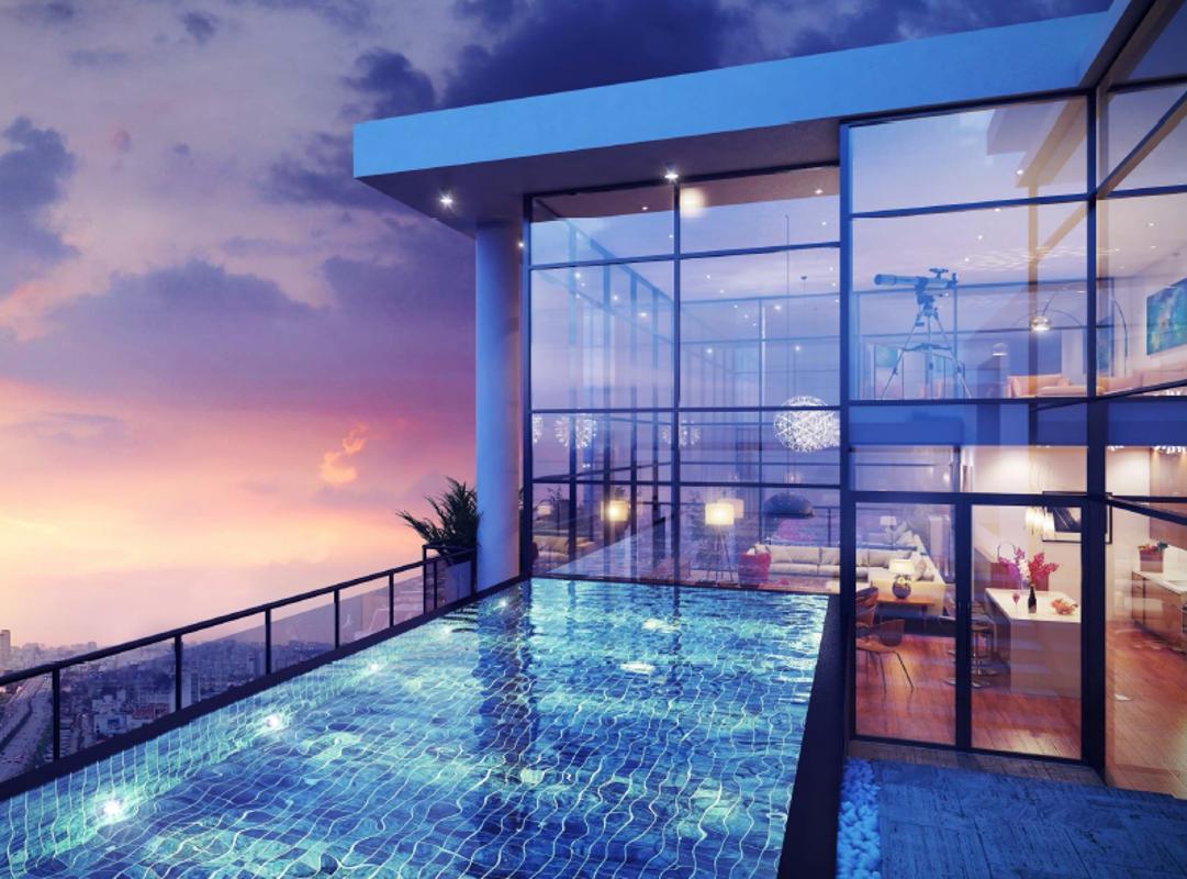 Gateway Thảo Điền - Hồ bơi penthouse mẫu