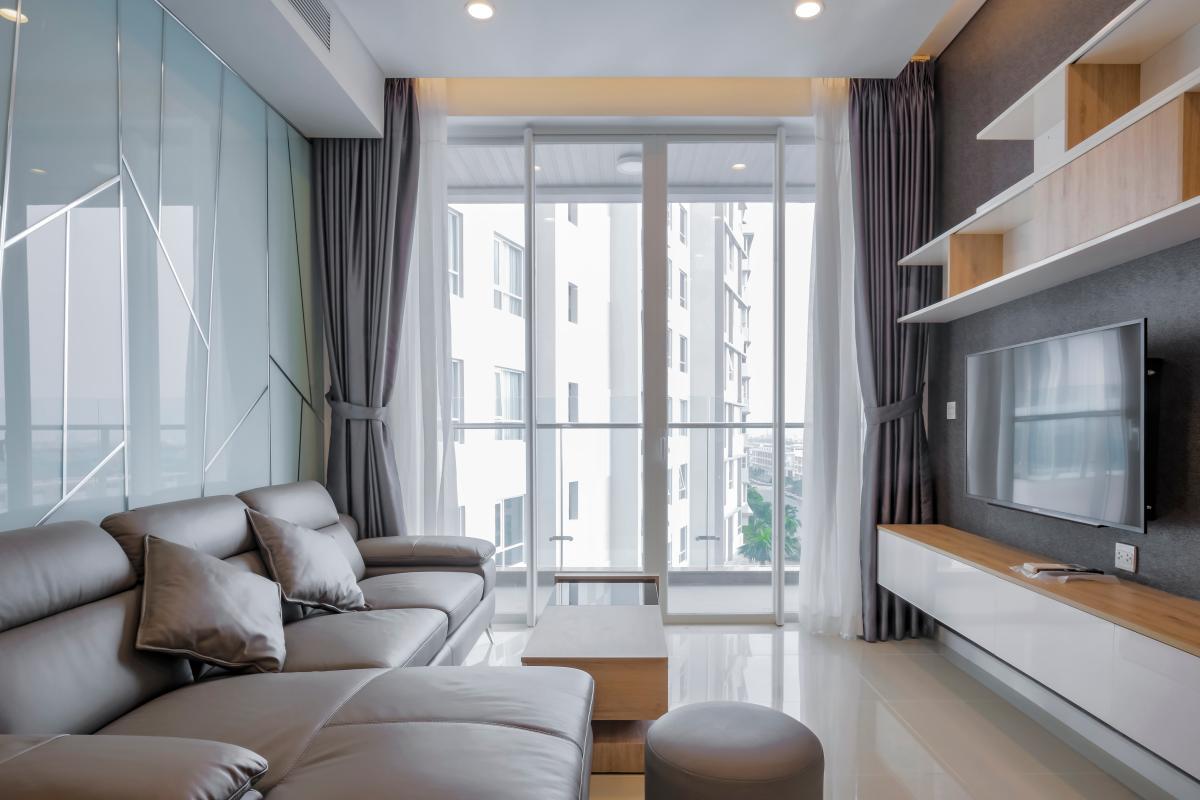 Phòng khách hướng Đông Bắc Căn hộ trung tầng A2 Sarimi Sala Đại Quang Minh