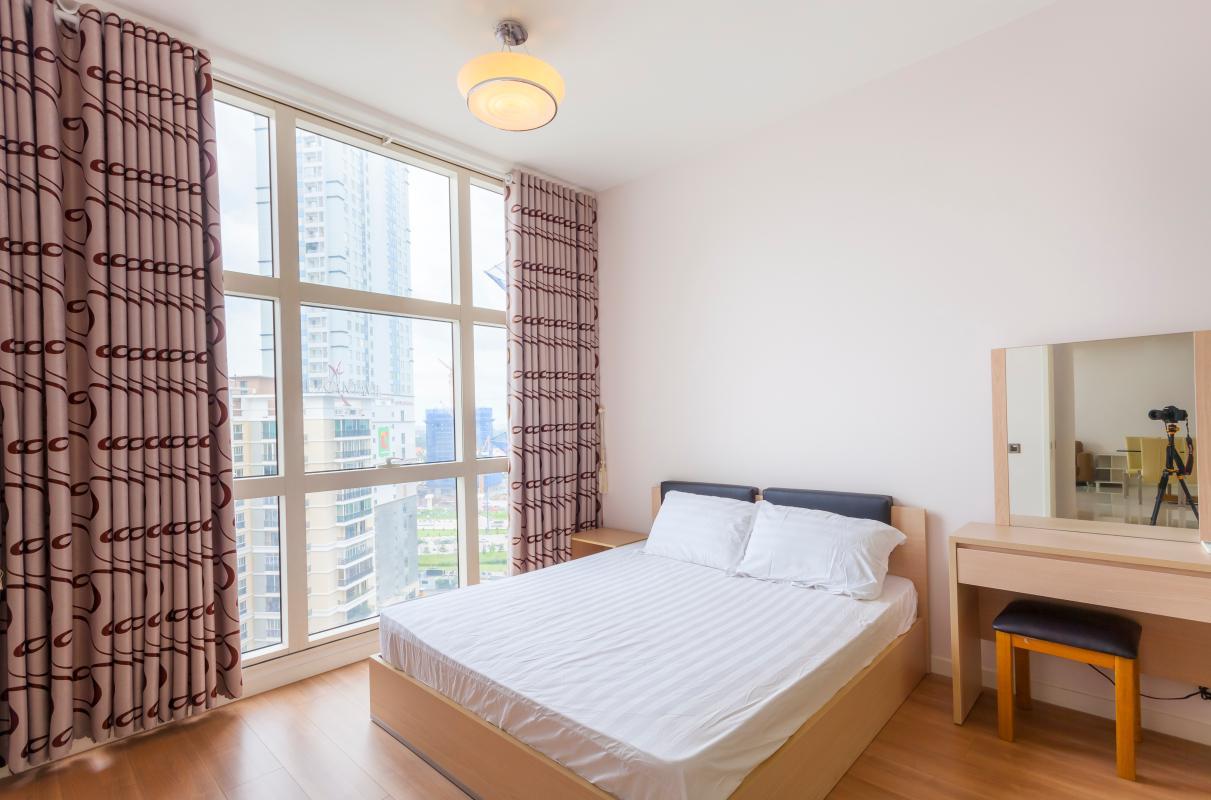 Phòng ngủ lớn có view thoáng đãng Cho thuê căn hộ tầng cao 3A The Estella An Phú