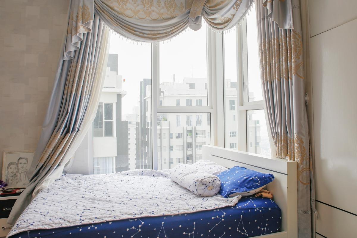 Phòng ngủ view 2 hướng Penhouse tháp W2 Sunrise City