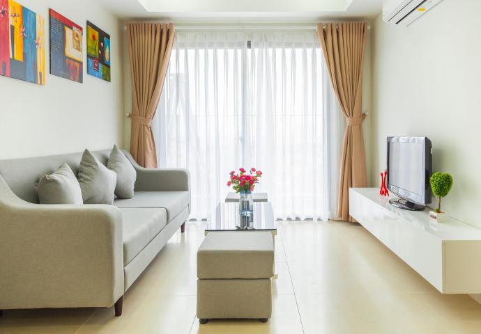 Căn hộ Masteri Thảo Điền 2 phòng ngủ tầng trung T3 nội thất đầy đủ