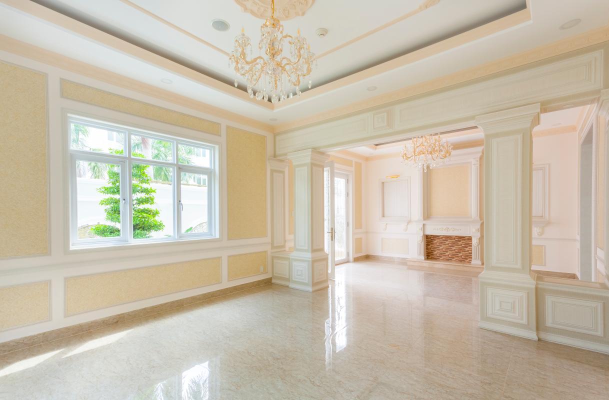 Phòng khách Villa 3 tầng Thảo Điền compound